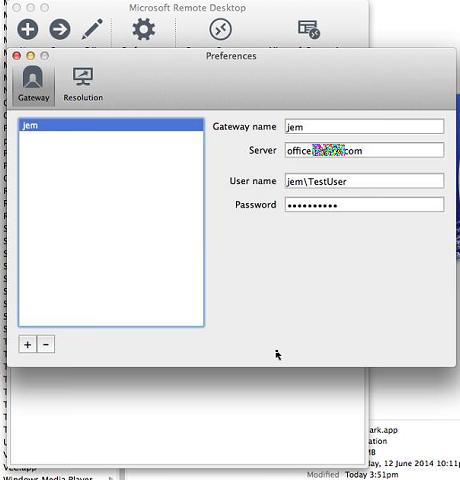 OS X / Mac Microsoft Remote Desktop 8 0 8 and Remote Web
