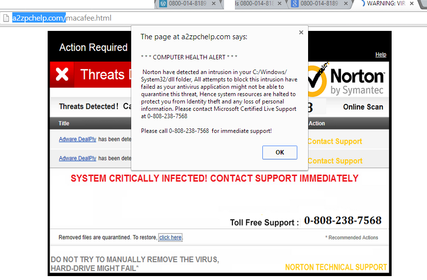 Norton Fake Phone Number Tech Support Scam Thecomputerperson