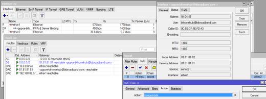 RouterOS PPPoE BT Hub Setup