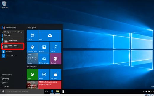 retailadmin windows 10