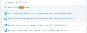 amazon customer services central referral leaks information