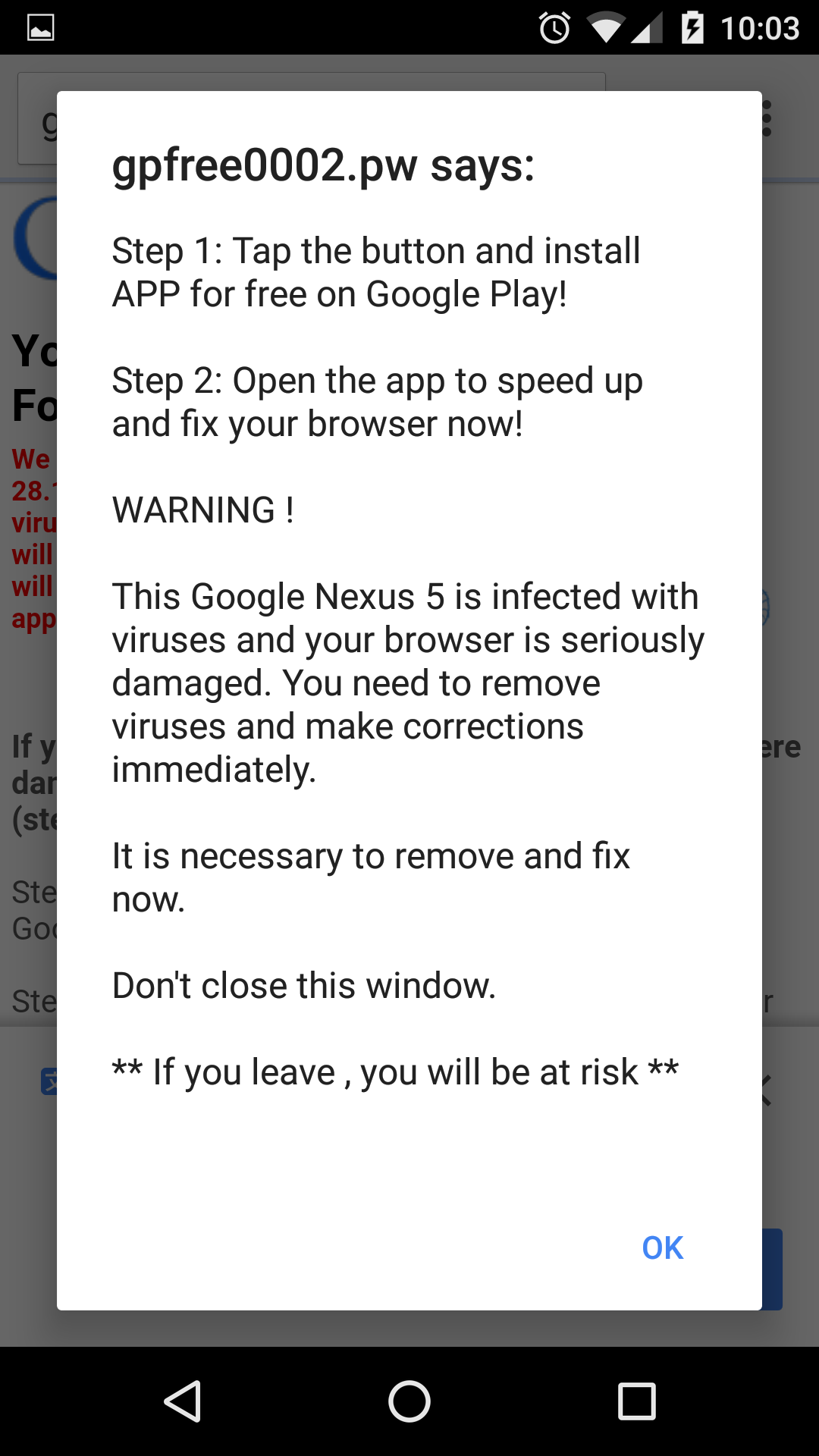 Fake Virus Warning On Imgur Pages Android Phones Only