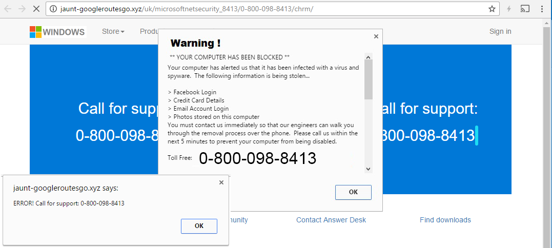 """Optimum Global Services"""" Tech Support Scam / """"0800 098 8413"""
