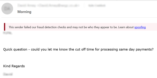director spoof fraud wire transfer email