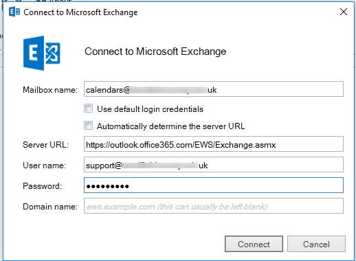 PrintableCal Office 365 / Exchange bug and required settings